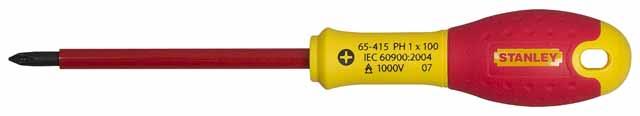 Отвертка диэлектрическая крестовая Stanley Fatmax 0-65-414 диэлектрическая отвертка fatmax 1000v ph0х75 мм stanley 0 65 414