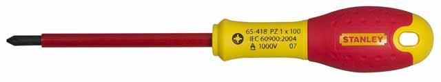 Отвертка диэлектрическая крестовая Stanley Fatmax 0-65-419 диэлектрическая отвертка fatmax 1000v ph0х75 мм stanley 0 65 414