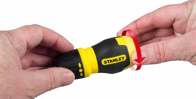 Отвертка реверсивная Stanley Stubby multibit 0-66-358