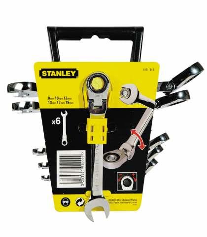 Набор гаечных ключей с трещоткой, 6 шт. Stanley 4-91-444