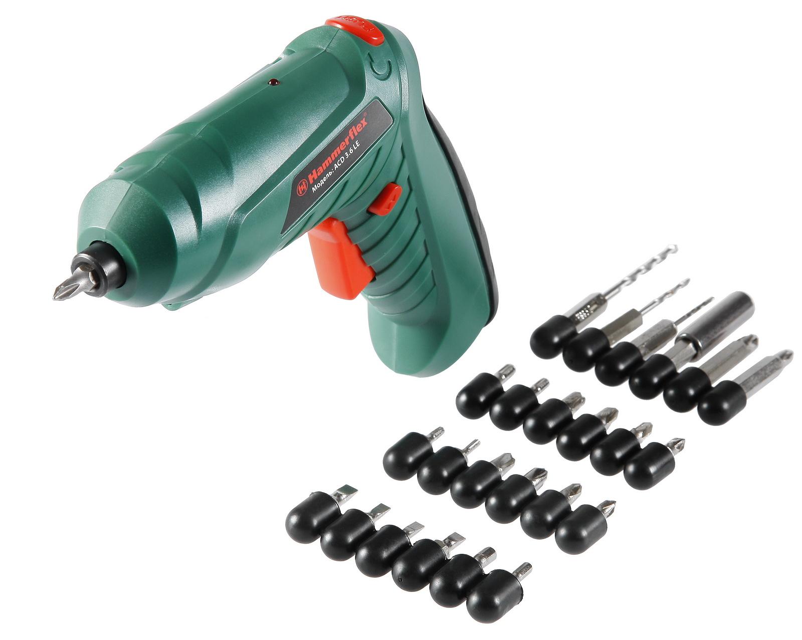 Отвертка аккумуляторная Hammer Acd3.6le  hammer acd3 6c premium аккумуляторная отвертка