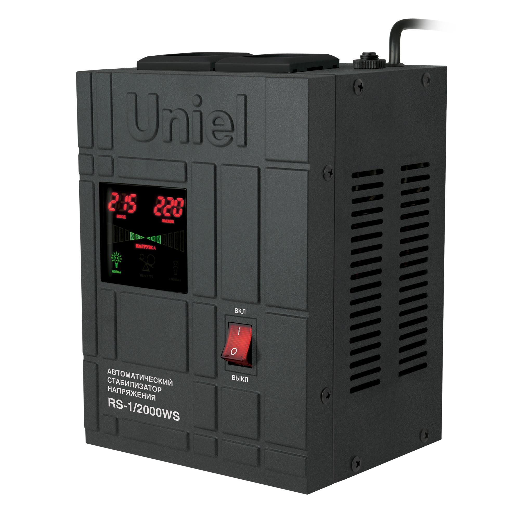 Купить со скидкой Стабилизатор напряжения Uniel Rs-1/2000ws