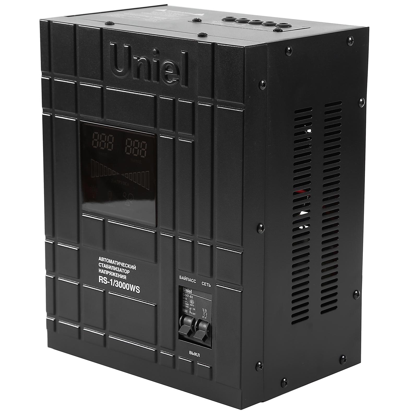 Стабилизатор напряжения Uniel Rs-1/3000ws