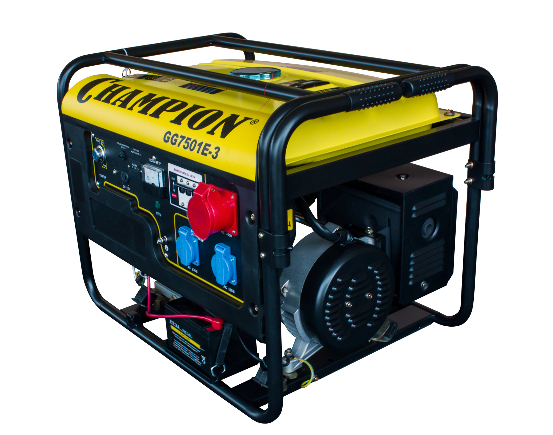 Бензиновый генератор Champion Gg7501e-3 бензиновый генератор кратон gg 5500m