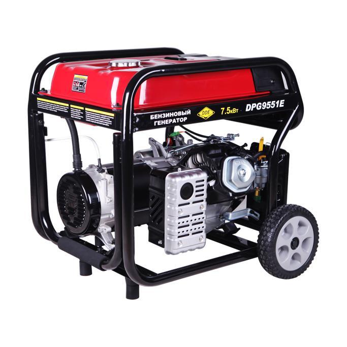 все цены на Бензиновый генератор Dde Dpg 9551e онлайн