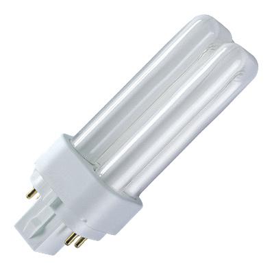Лампа энергосберегающая Osram Dulux d/e 18w/830 g24q-2 g l i d e