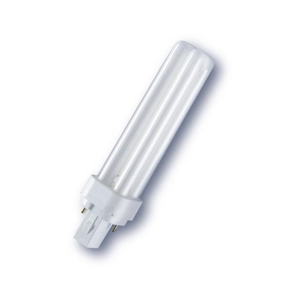 Лампа энергосберегающая Osram Dulux d 13w/827 g24d-1