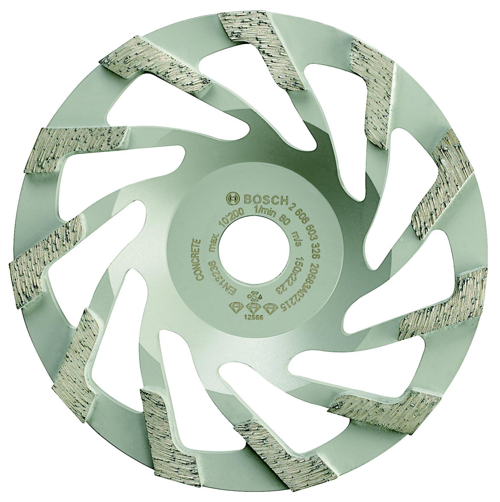 Чашка шлифовальная Bosch Best for concrete 150x22 (2.608.603.326) bosch best for concrete 2608602657