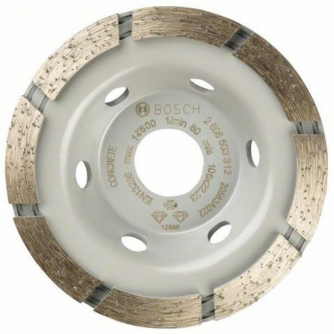 Чашка шлифовальная Bosch Standard for concrete 105x22 (2.608.603.312) шлифовальная машина bosch gss 230 ave professional