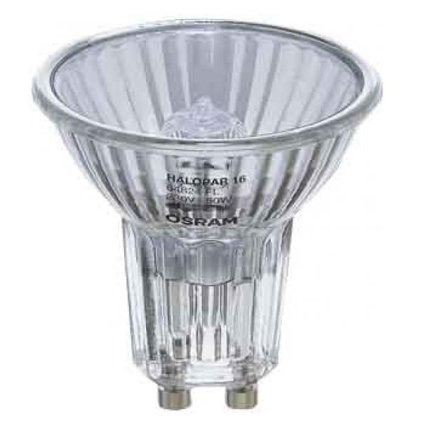 Лампа галогенная Osram Halopar 64824 fl 50w gu10 лампочка osram g4 12v10w 20w 35w 50w
