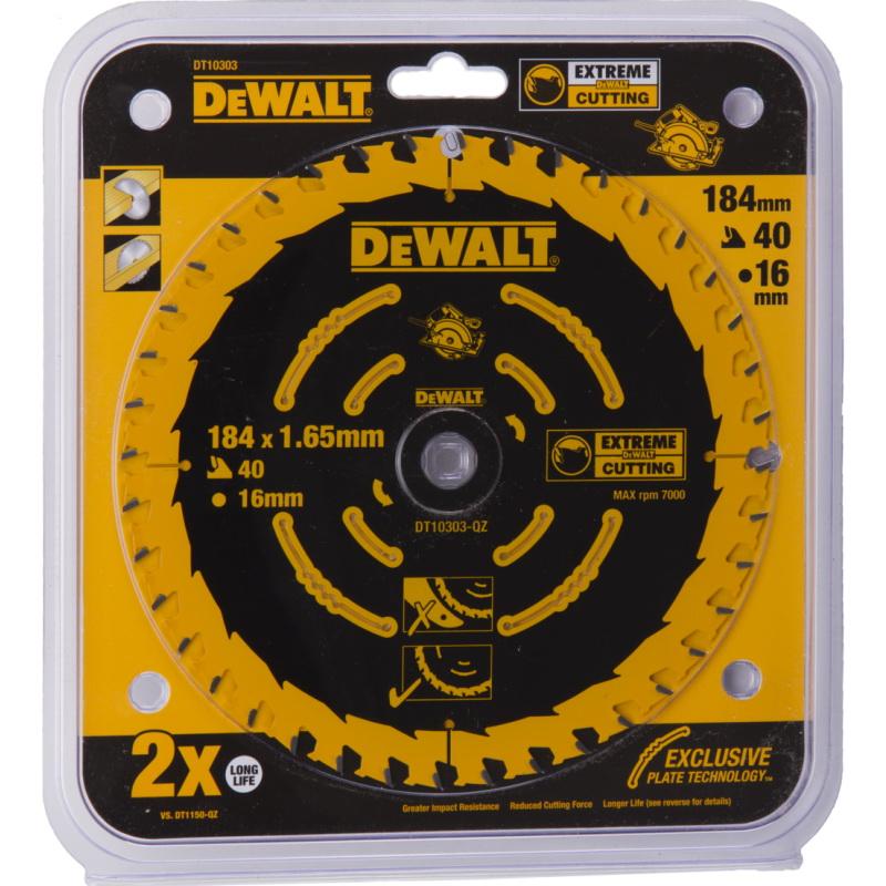 Диск пильный твердосплавный Dewalt Dt10303qz диск пильный по дереву 184х16 мм z40 dewalt dt 10303