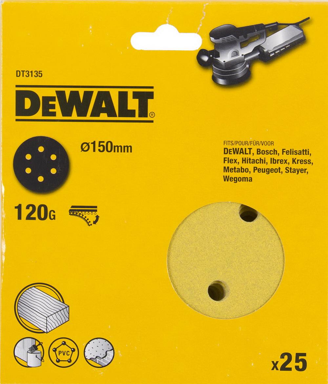 Круг шлиф. самосцепляющийся Dewalt 150мм p120 6отв. круг шлиф самосцепляющийся зубр 150мм p120 6отв