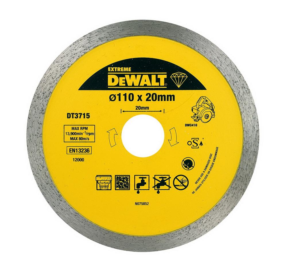 110x20x1.6мм extreme, для плиткореза dwc410, Круг алмазный