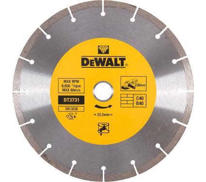 Круг алмазный DEWALT (DT3731-QZ) Ф230х22мм по бетону