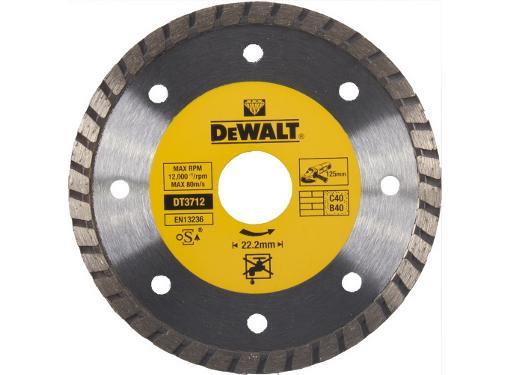 Круг алмазный DEWALT (DT3712-QZ) Ф125х22мм универсальный