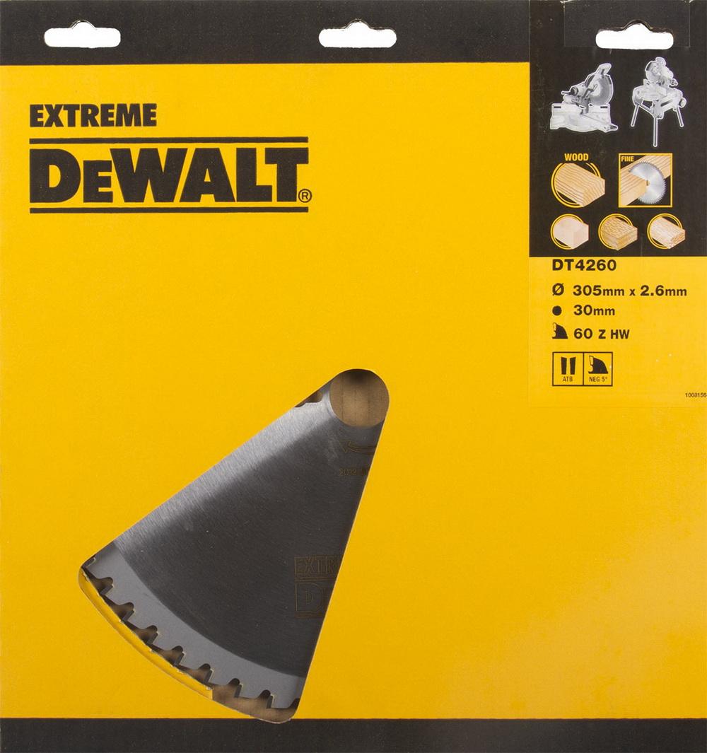 Диск пильный твердосплавный Dewalt Dt4260qz диск пильный по дереву 184х16 мм z40 dewalt dt 10303