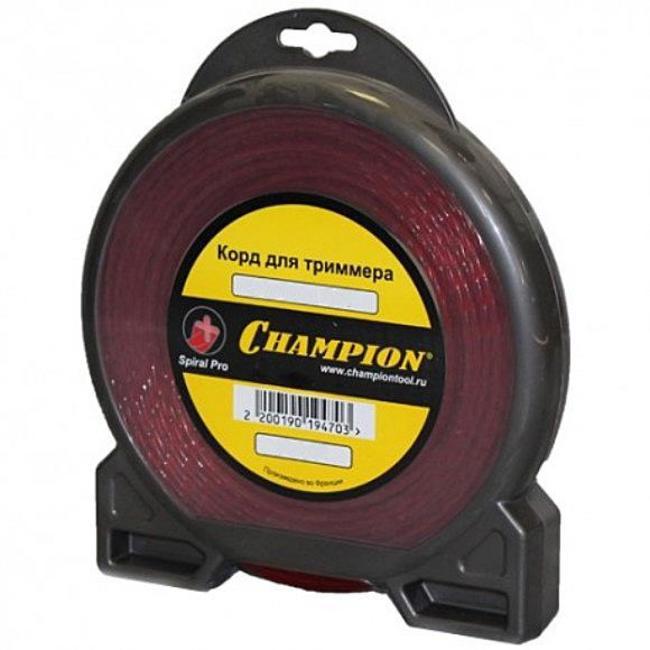 Леска для триммеров Champion Spiral pro c5050 леска для триммеров champion c5051