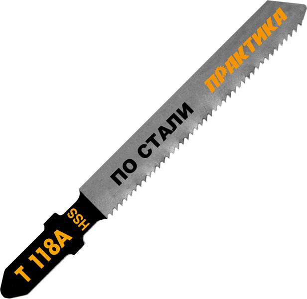 Пилки для лобзика ПРАКТИКА 034-472 t118a 2шт. пилки для лобзика по металлу для прямых пропилов практика t118a 1 30 мм 2 шт