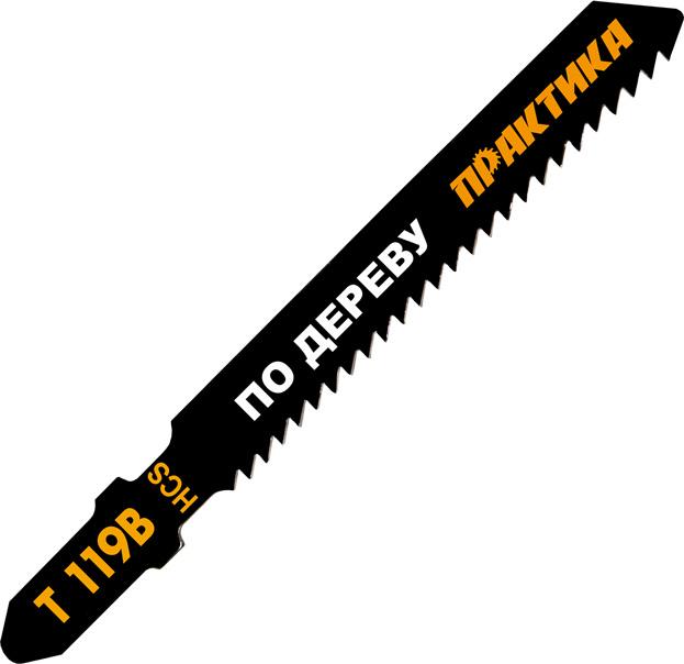 Пилки для лобзика ПРАКТИКА 034-588 t119b 2шт. пилки для лобзика по металлу для прямых пропилов bosch t118a 1 3 мм 5 шт