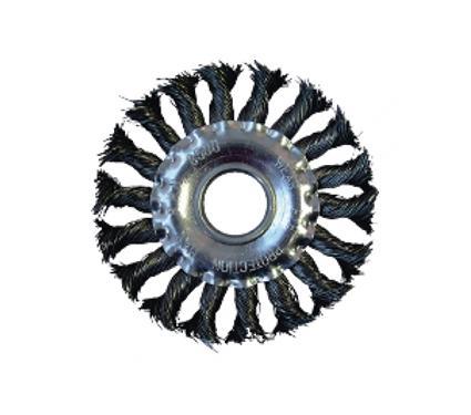 Кордщетка ПРАКТИКА плоская 115мм для УШМ витая сталь (032-515)