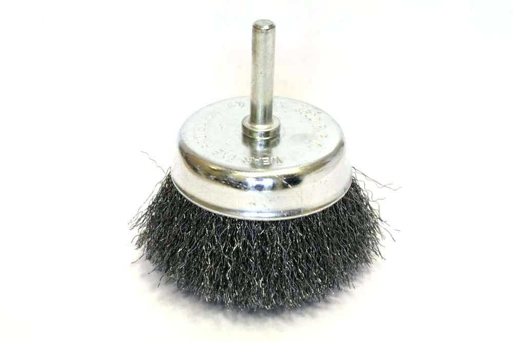 Фото 1/2 032-584 75мм, чашеобразная мягкая для дрели, Кордщетка