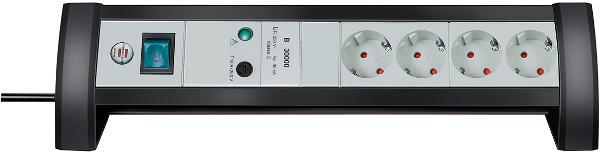 Сетевой фильтр Brennenstuhl Premium-office-line 1156350414 удлинитель настольный brennenstuhl alu office line 4 гн с заземл алюм корпус 1 8 м выключатель