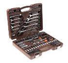"""Универсальный набор инструмента с головками торцевыми 12-гранными 1/4"""", 1/2""""DR (82 предмета) OMBRA OMT82S12"""