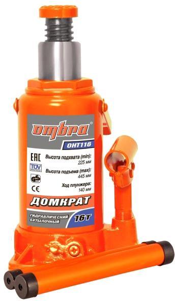 Бутылочный гидравлический домкрат Ombra Oht116 цена