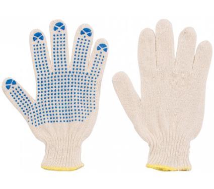 Трикотажные перчатки с ПВХ FIT 12485