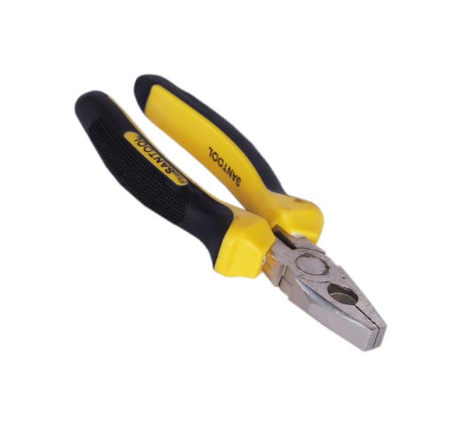 Пассатижи Santool 031101-101-160 никелированные пассатижи santool 160 мм с двукомпонентной ручкой 031101 101 160