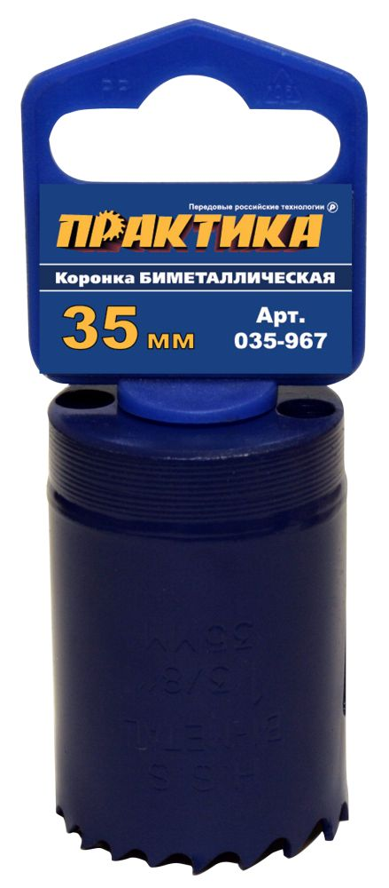 Коронка биметаллическая ПРАКТИКА 035-967 35мм nobrand 967