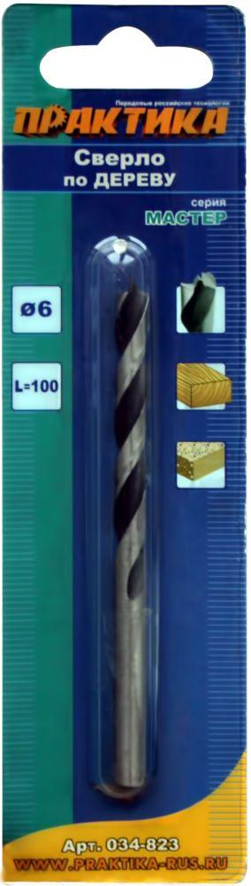 Сверло по дереву ПРАКТИКА 034-823 6х93мм, серия Мастер конфорка пэ 0 51м00 034 в киеве