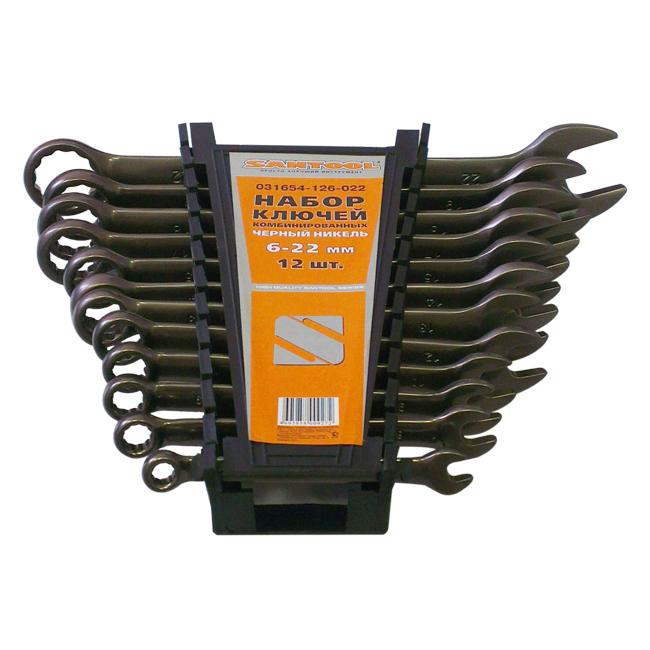 Набор комбинированных гаечных ключей в держателе, 12 шт. Santool 031654-126-022 (6 - 22 мм) цена