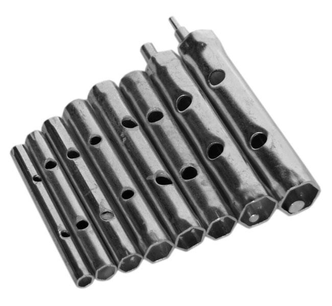 Набор ключей-трубок торцевых, 10 шт. Santool 031660-001 универсальные ключи для монтажа магнитол phantom isd 001