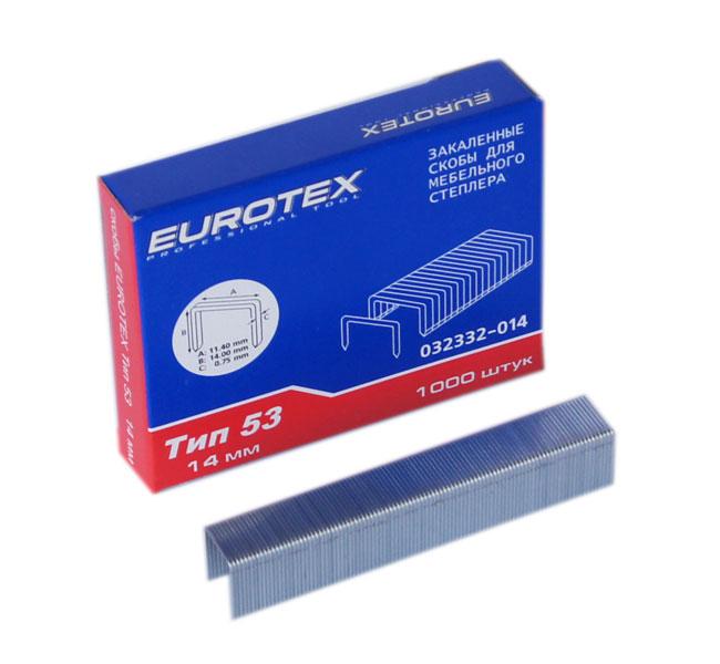 Скобы для степлера Eurotex 032332-014 леска salmo team tournament nylon 150 014 ts4913 014