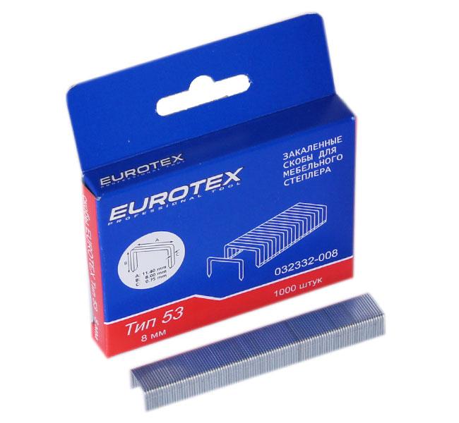 ключ гаечный комбинированный eurotex 031605 008 008 8 мм Скобы для степлера Eurotex 032332-008