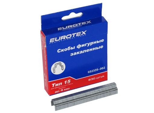 Скобы для степлера EUROTEX 032335-002  4 мм, тип 14, 1000 шт.