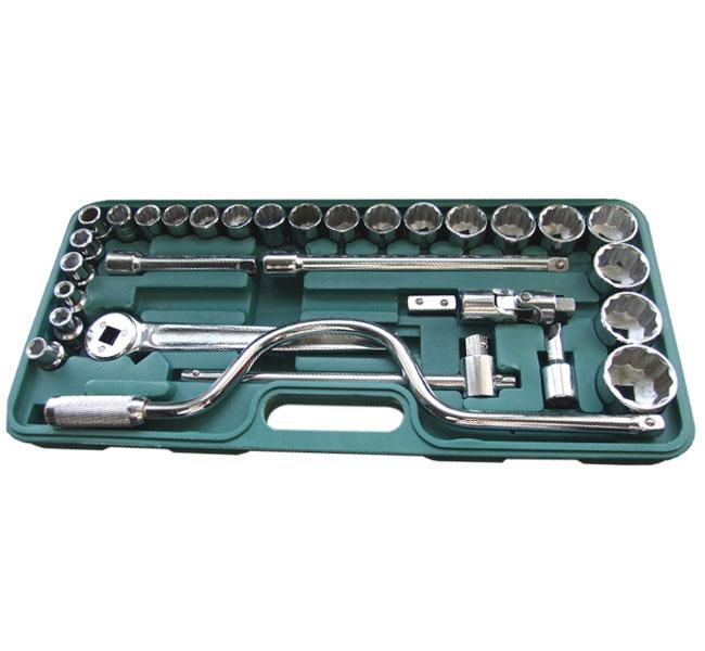 Набор автомобильных торцевых головок с принадлежностями, 31 предмет Santool 110302-032