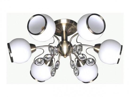 Люстра Lamplandia 3690-6 nina люстра lamplandia daria 3х40вт е14 металл темно коричневый