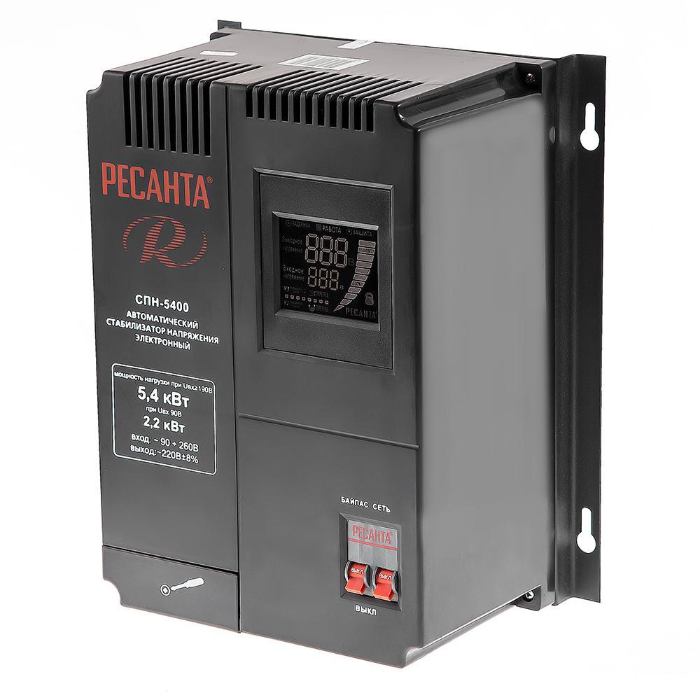 Стабилизатор напряжения РЕСАНТА СПН-5400 цена и фото