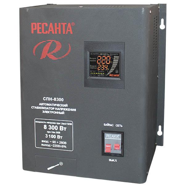 Стабилизатор напряжения РЕСАНТА СПН-8300 цена и фото