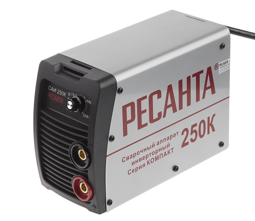Сварочный инвертор РЕСАНТА САИ 250К сварочный аппарат инверторный ресанта саи 250к компакт