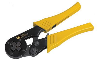 Фото - Пресс-клещи для обжима наконечников Iek КО-03Е клещи для обжима телефонных наконечников archimedes norma