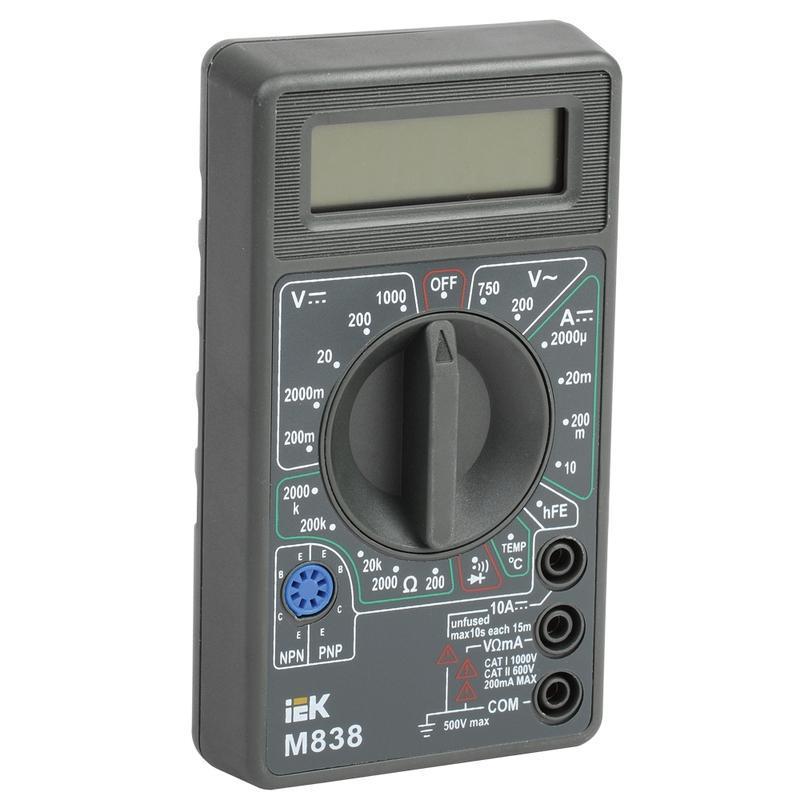Мультиметр Iek Universal m838 мультиметр iek professional my61