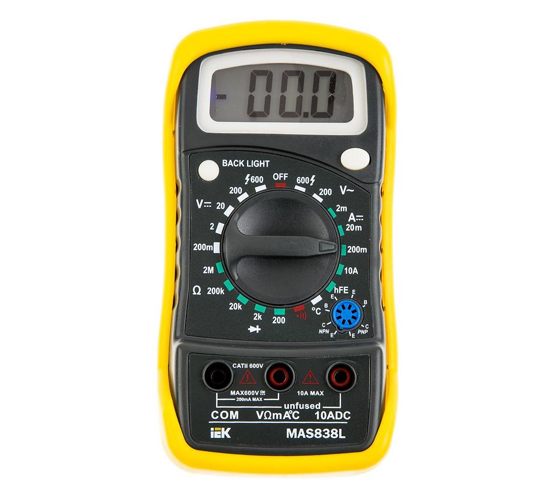 Мультиметр цифровой IEK Master MAS838L