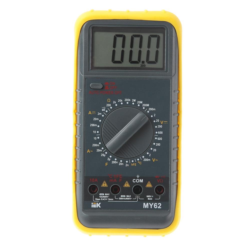 Мультиметр цифровой Iek Professional my62 мультиметр iek professional my61