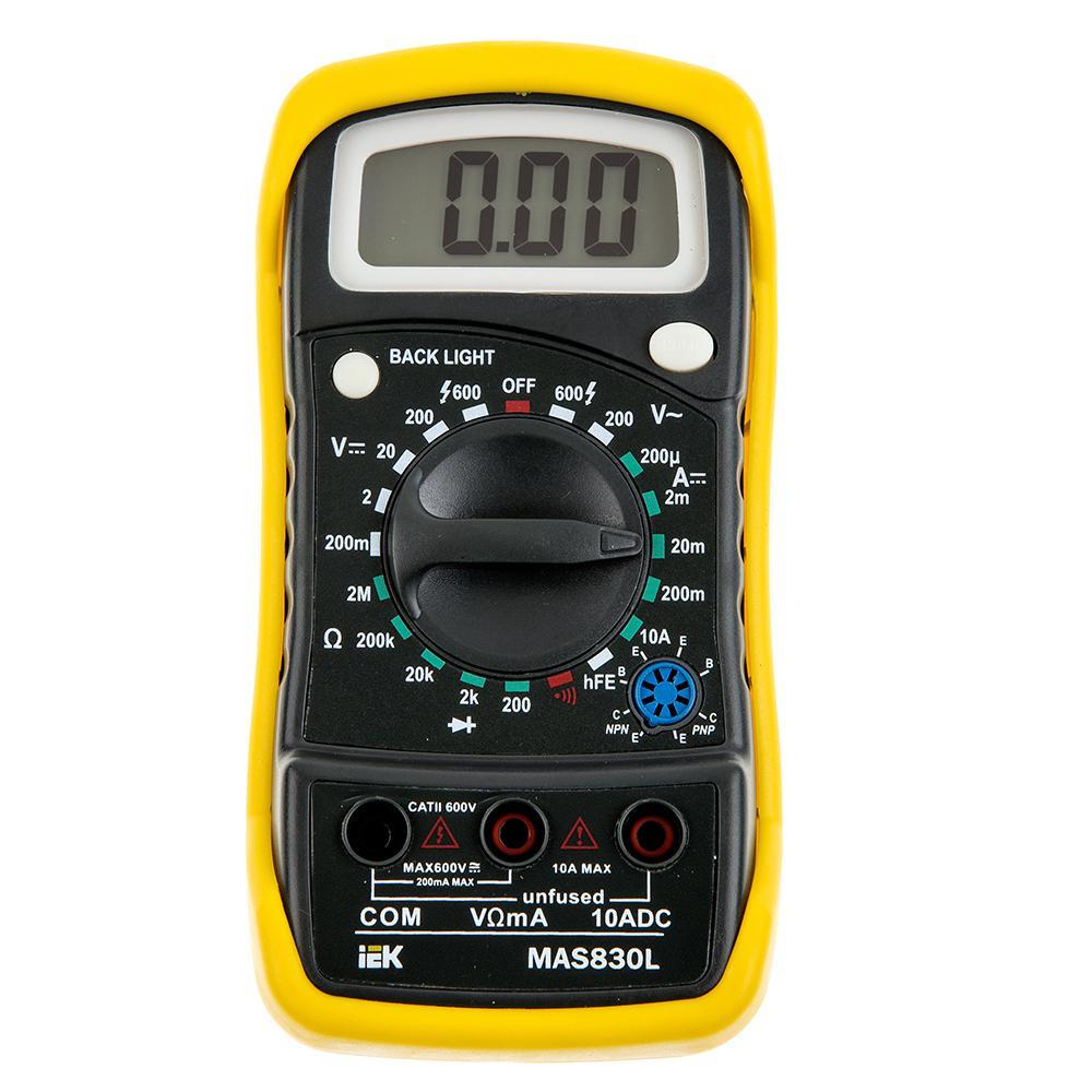 Мультиметр Iek Master mas830l мультиметр iek professional my61