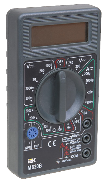 Мультиметр Iek Universal m830b мультиметр iek professional my61
