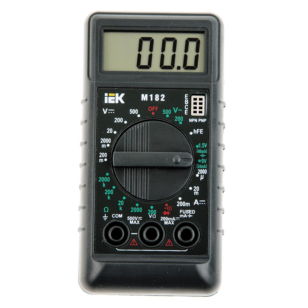 Мультиметр Iek Compact m182 мультиметр iek professional my61 tmd 5s 061