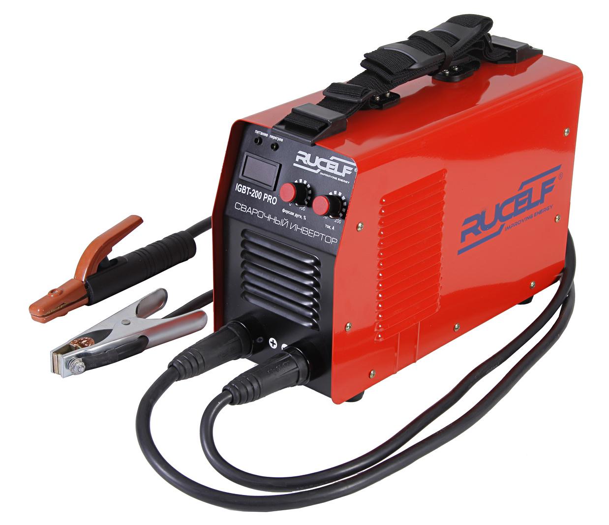 Сварочный аппарат RucelfСварочные аппараты<br>Макс. сварочный ток: 200, Напряжение: 220, Мин. входное напряжение: 130, Выходной ток: 10-200, Напряжение холостого хода: 75, Потребляемый ток: 27, Макс. диаметр электрода: 5, Тип сварочного аппарата: инверторный, Тип сварки: дуговая (электродом, MMA), Инверторная технология: есть, Поставляется в: коробке<br>